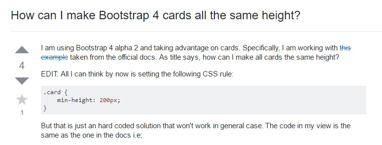 Insights on  precisely how can we  build Bootstrap 4 cards  all the same tallness?