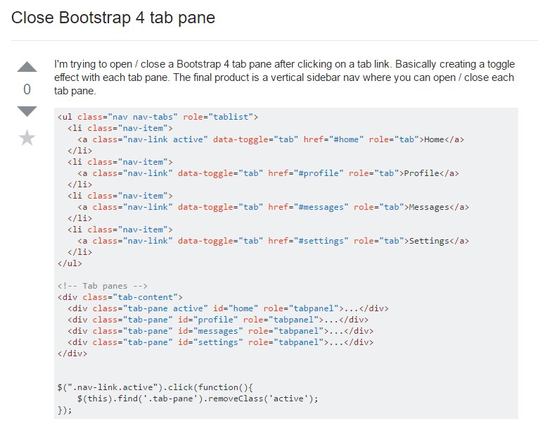 Tips on how to  shut Bootstrap 4 tab pane