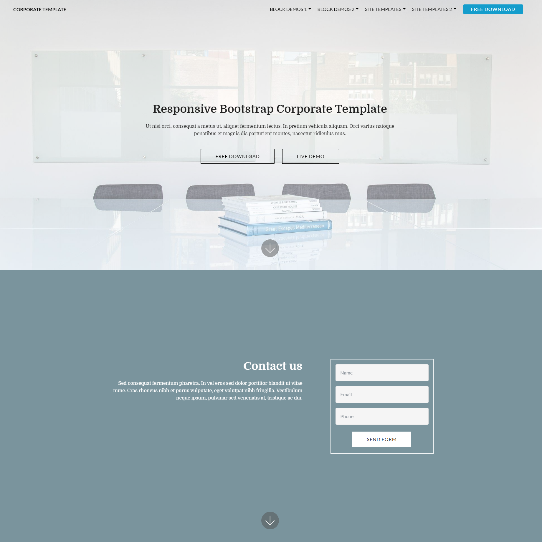 Free Download Bootstrap Corporate Templates