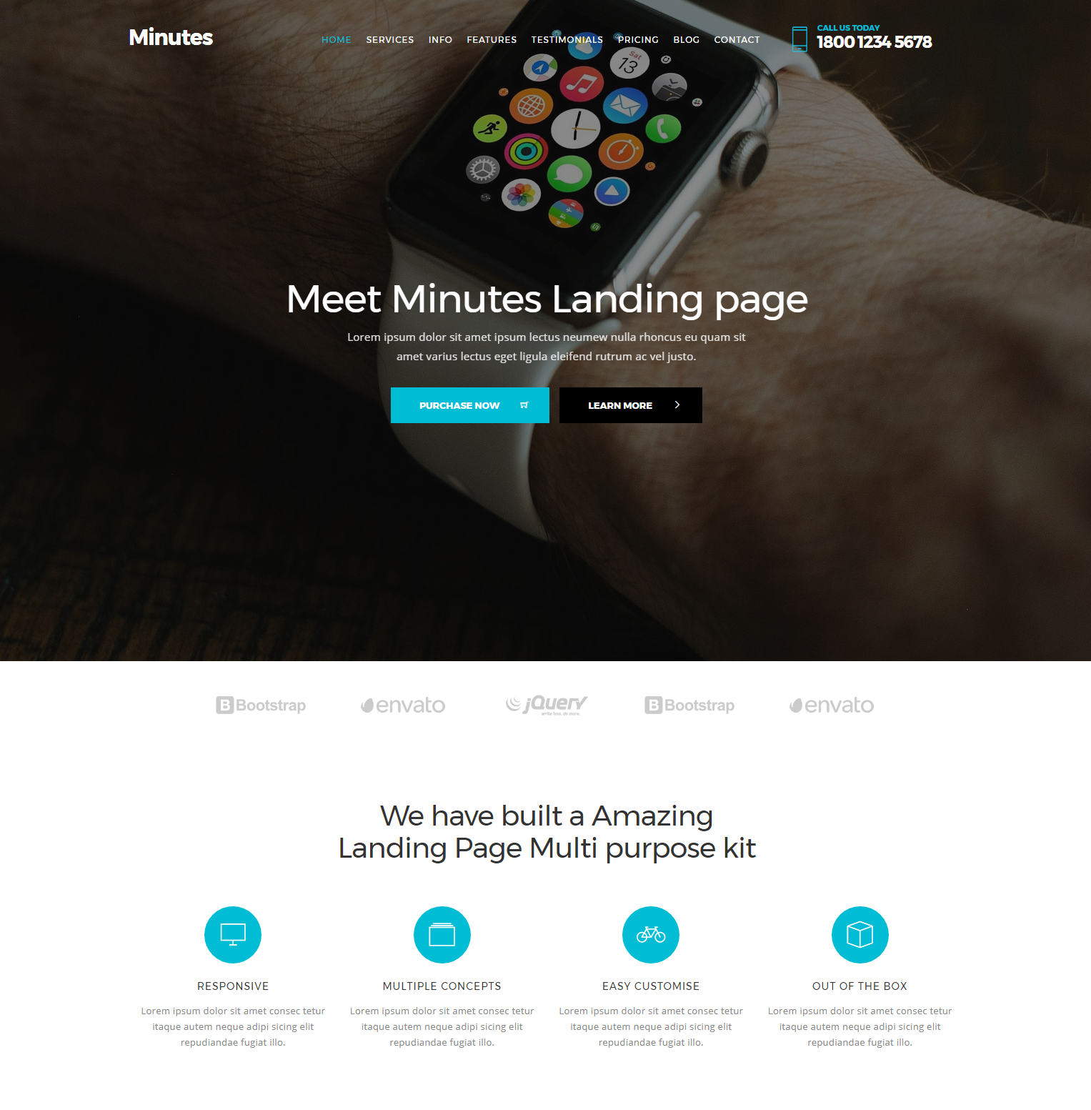 Responsive Bootstrap Minutes Themes