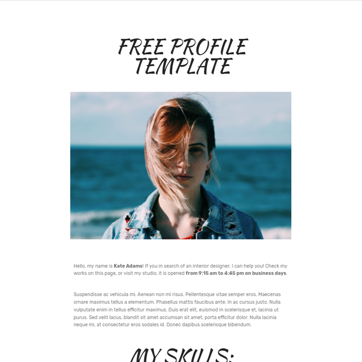 HTML5 Bootstrap  Profile Templates