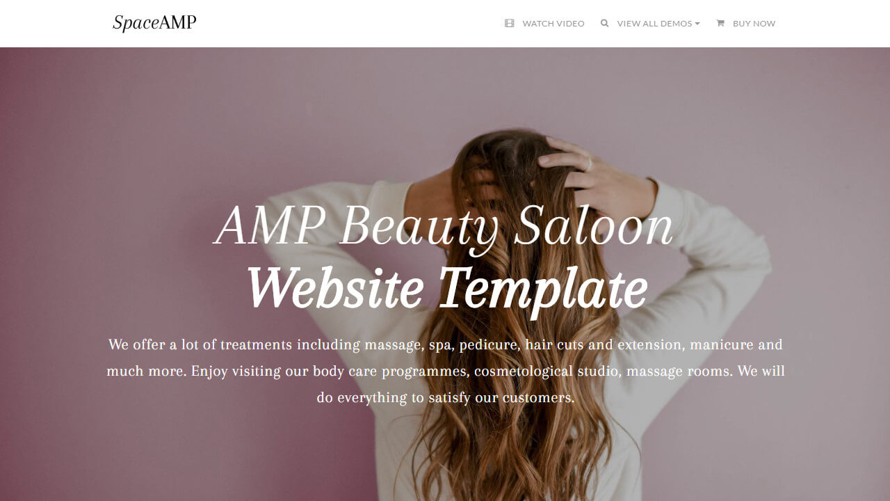 AMP Beauty Salon Website Template