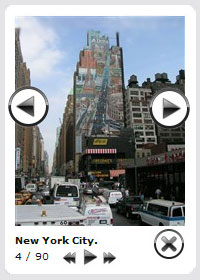 javascript pop up mouse location Facebook Album Viewer