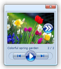 play ajax modal popup window Rotating Photo Gallery Rvsitebuilder