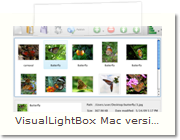 Javascript Photo Gallery Mac version - Main Window