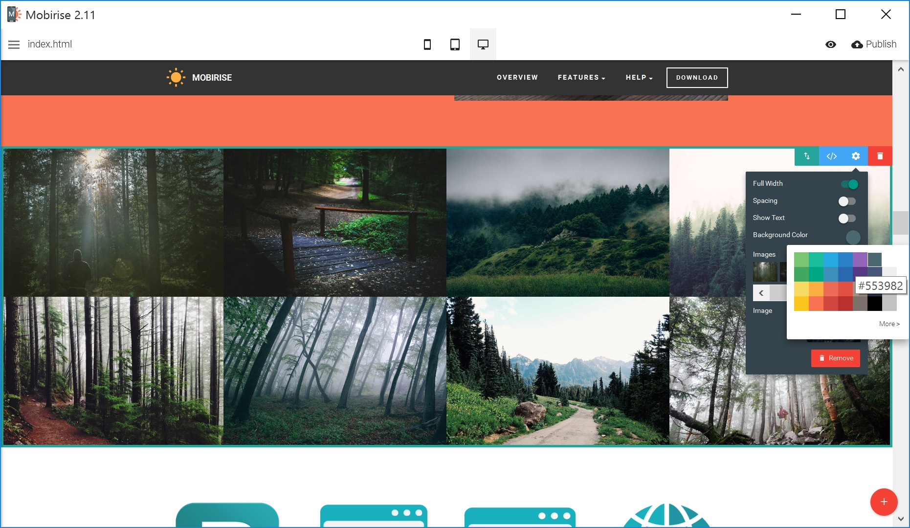 Mobile Web Page  Creator