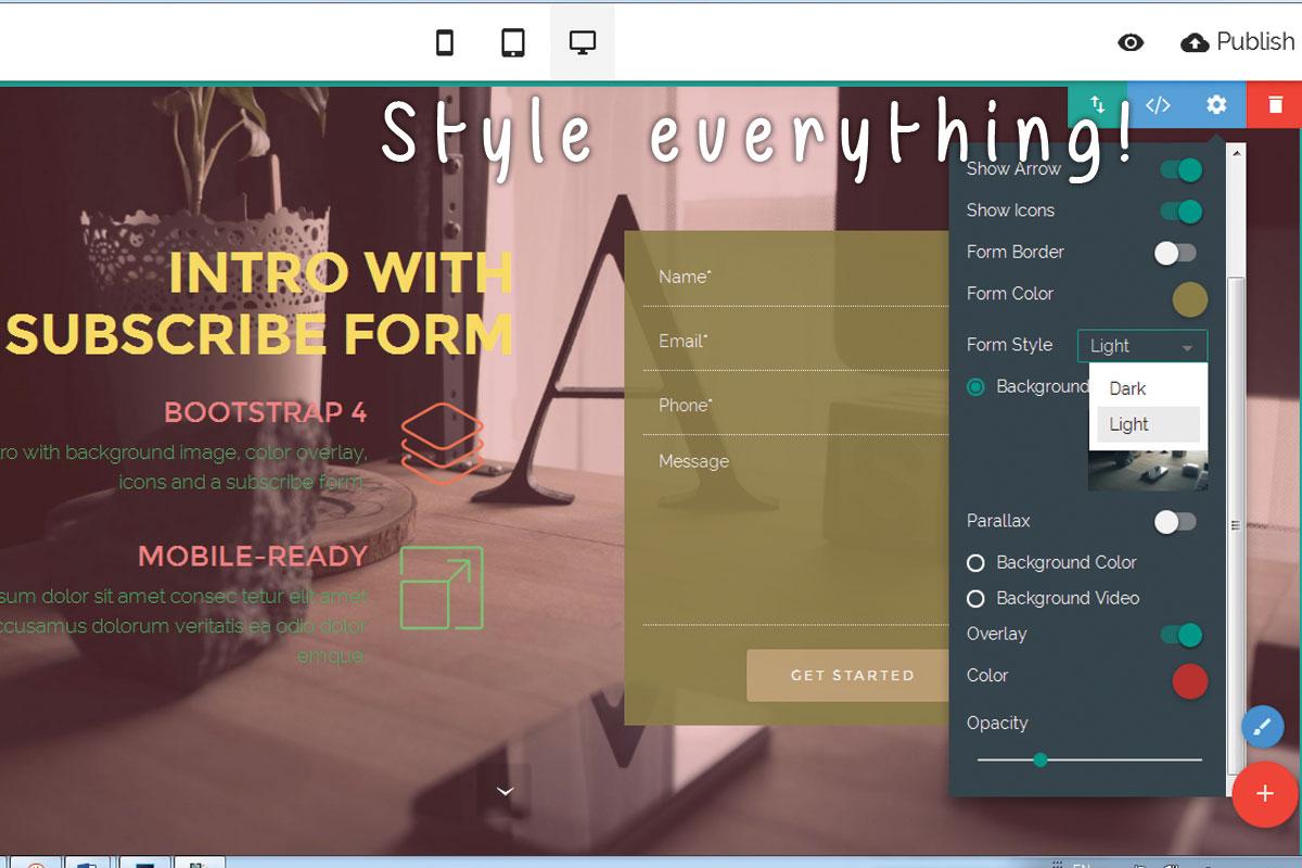 WYSIWYG Responsive Web Site Builder Software