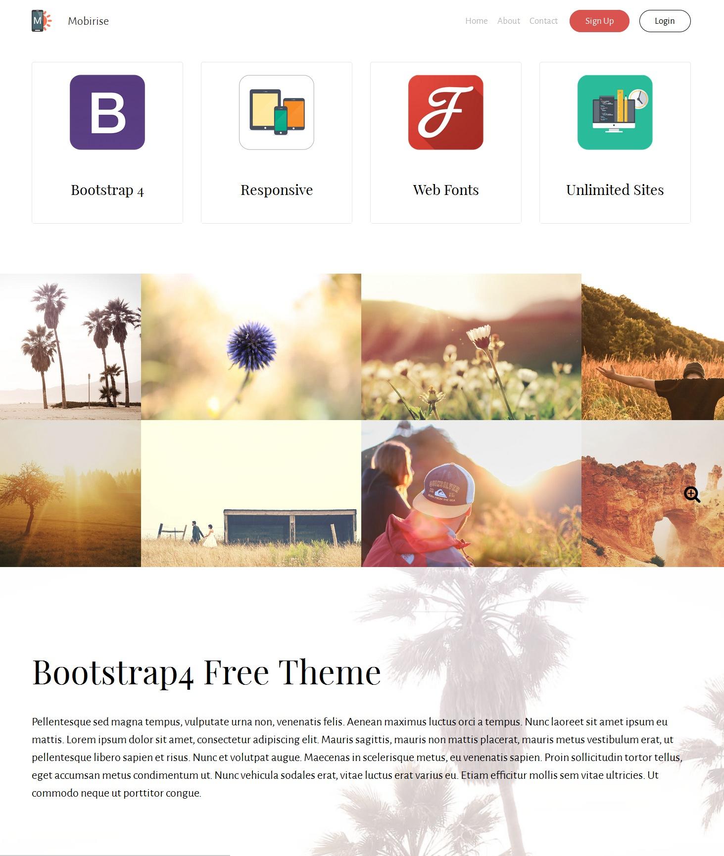 Free Bootstrap Landing Page Theme