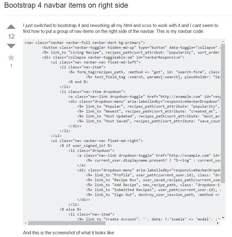 Bootstrap Menu on the right side