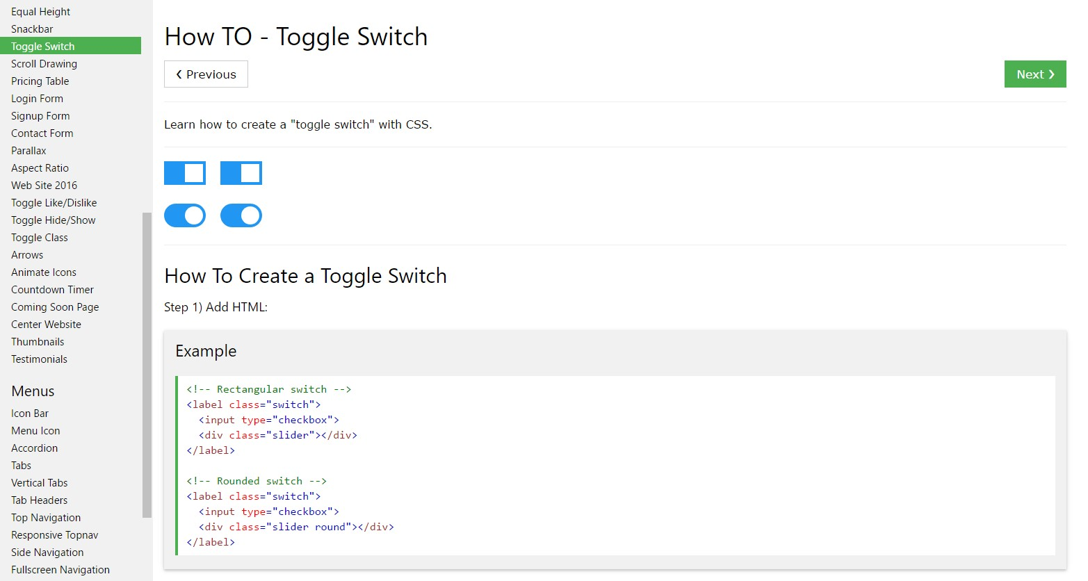 The best ways to  make Toggle Switch