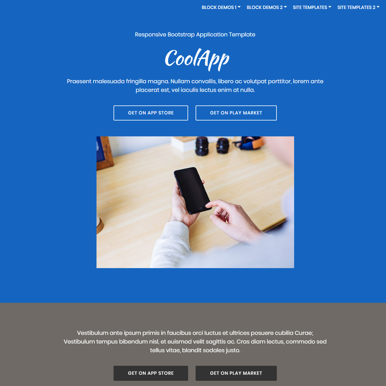 HTML Bootstrap Application Themes