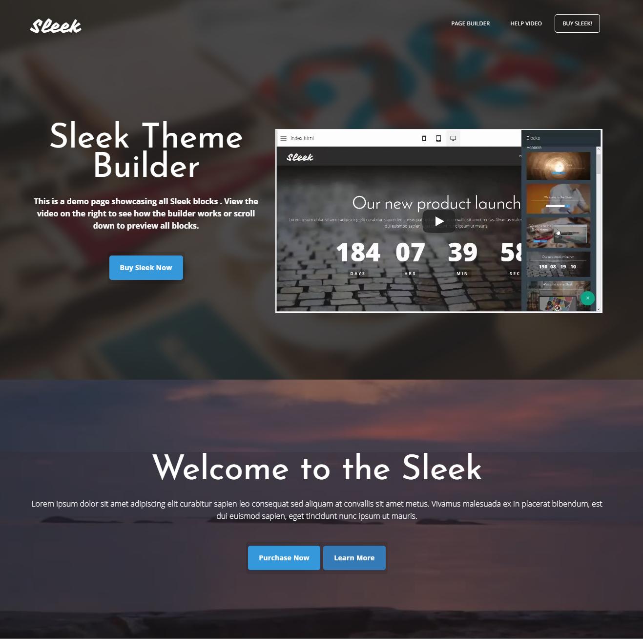 HTML Bootstrap Sleek Templates