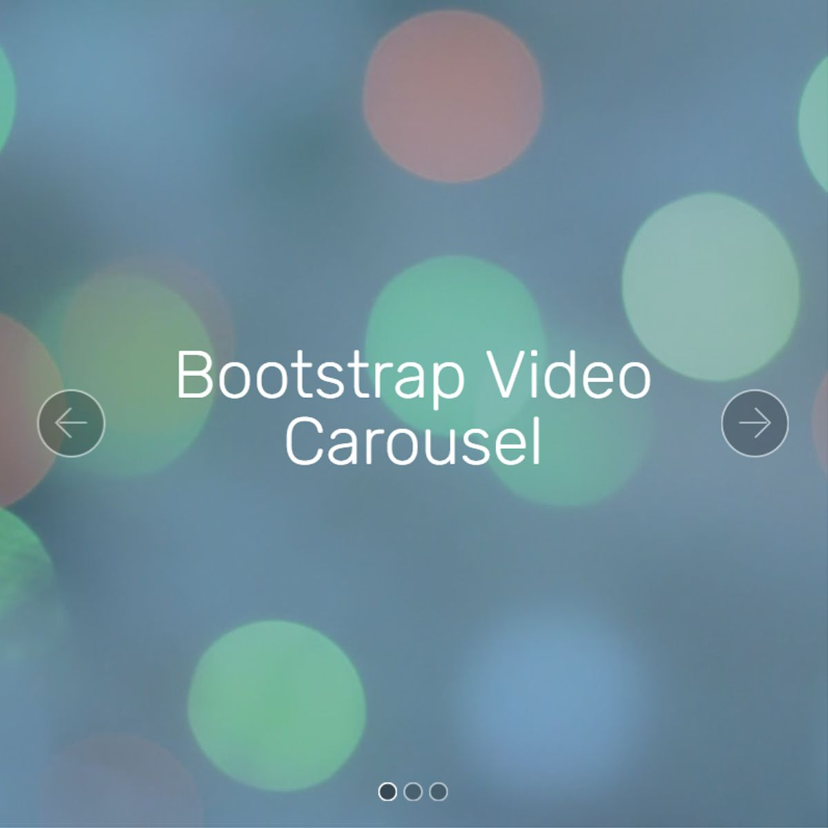 jQuery Bootstrap Picture Slider