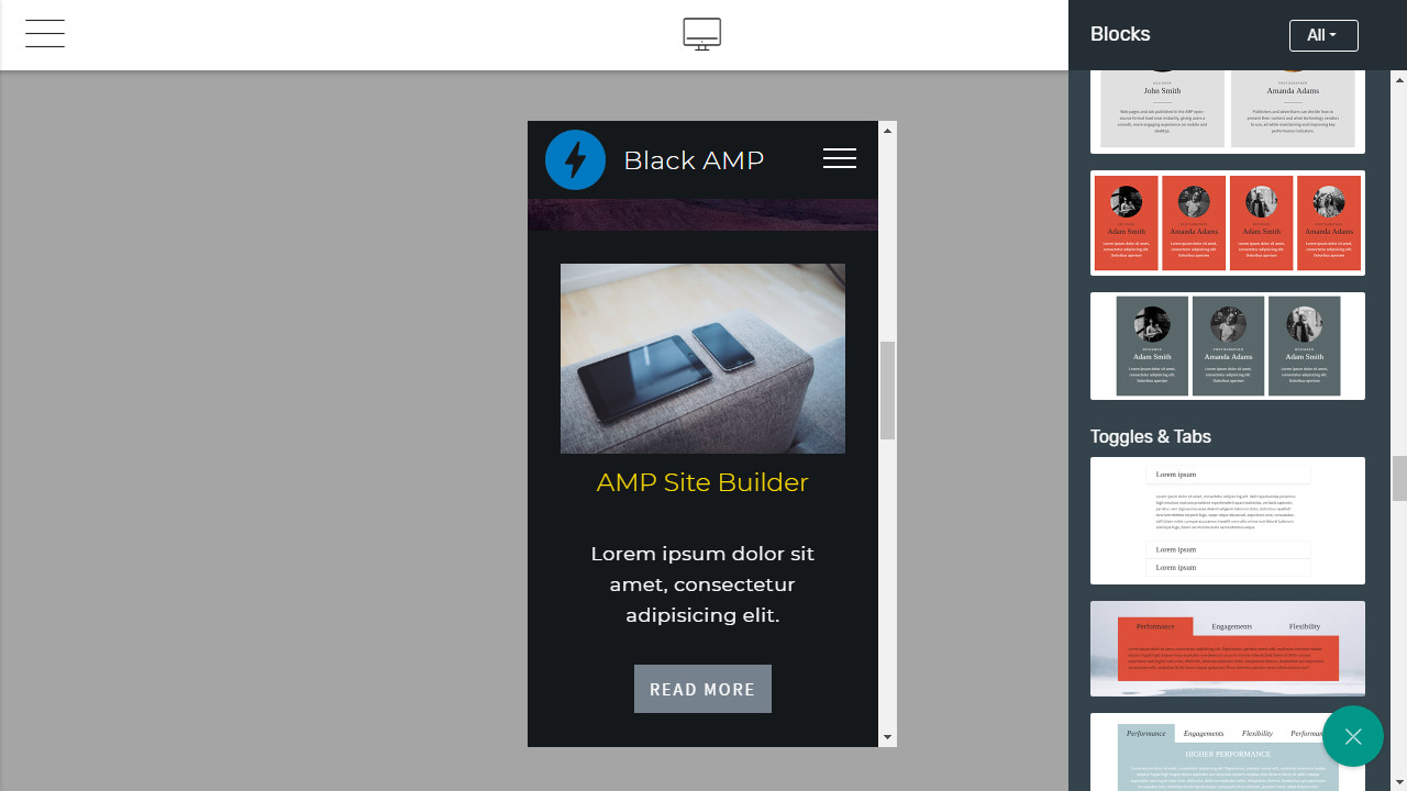 AMP Website Creator
