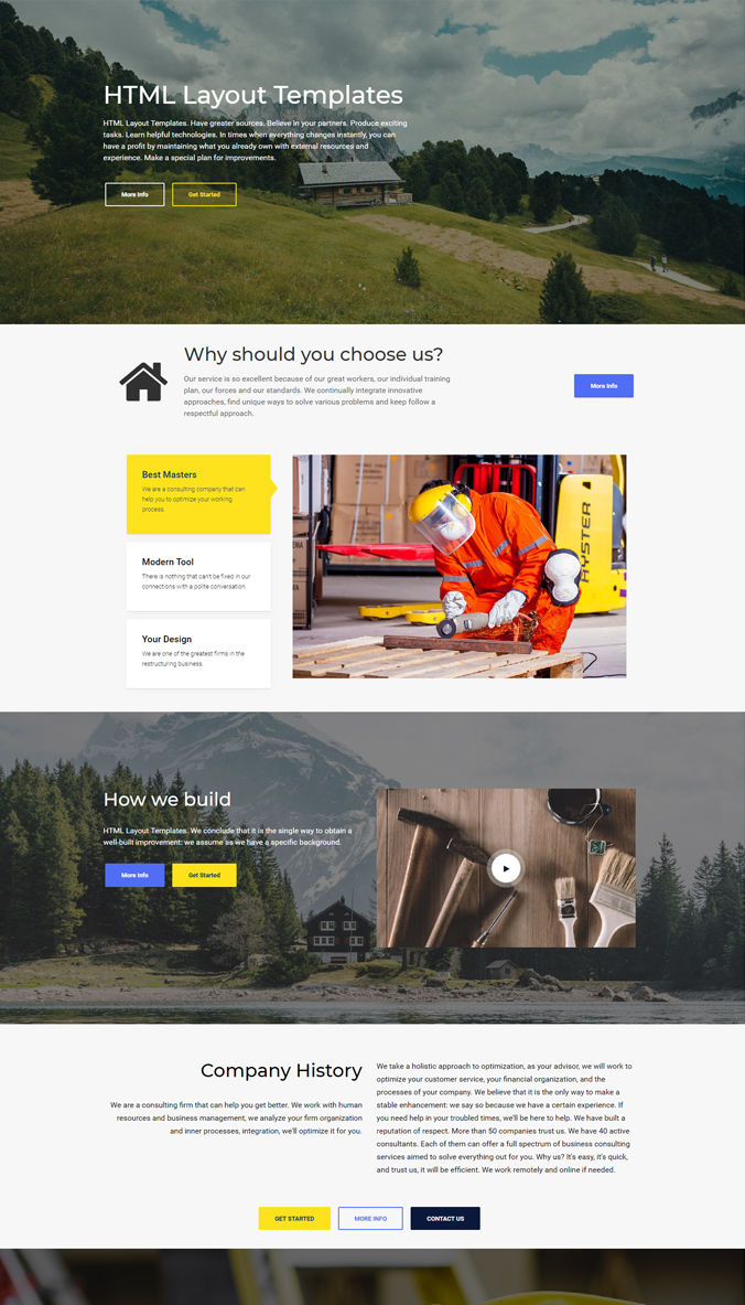 Website Layout Template