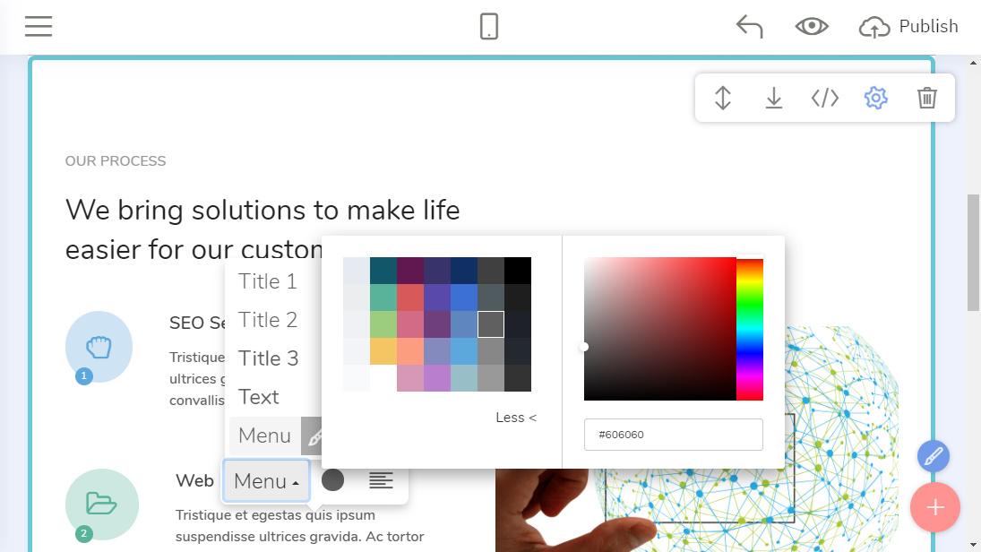 HTML Site Builder